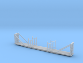 Bulkhead Flatcar - Nscale in Smooth Fine Detail Plastic