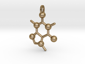 Coffee Molecule in Polished Gold Steel