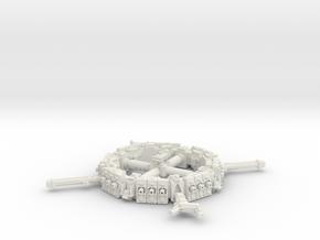 Orbital Dock in White Natural Versatile Plastic