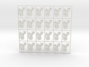"""""""Karussellpferde"""" 24 für 1:87 (H0 scale) in White Natural Versatile Plastic"""