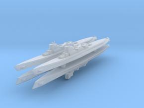 Bywater's Nagasaki Cruiser Submarine 1:2400 x4 in Smooth Fine Detail Plastic