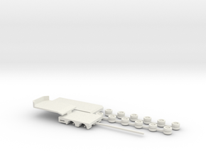 1:160/N-Scale 2+4 Axle Semitrailer in White Natural Versatile Plastic