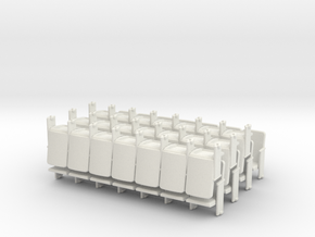 Theater Seats Ver E O Scale 7x7 in White Natural Versatile Plastic