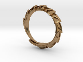 Game of Thrones Dragon Ring in Natural Brass