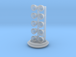 Falcon Heavy engine set for ONE side booster in Smooth Fine Detail Plastic: 1:200