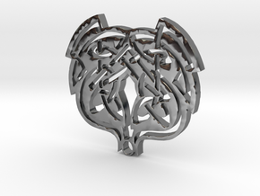 WhiteHawk Tribal Necklace in Fine Detail Polished Silver
