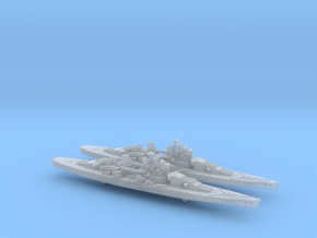 1/3000 UK Lion class battleship (1939) x2 in Frosted Ultra Detail