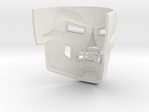 Dr Doom Mask in White Natural Versatile Plastic
