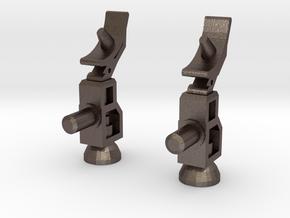 Radar Guns in Polished Bronzed Silver Steel