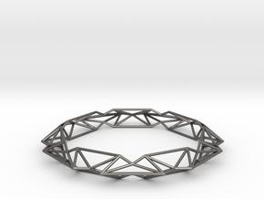 Queen of Diamonds L (80mm) in Polished Nickel Steel