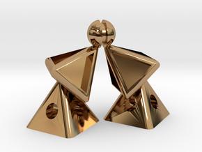Pyramid Kiss mini in Polished Brass