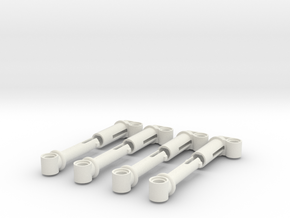 Big shock absorbers in White Strong & Flexible
