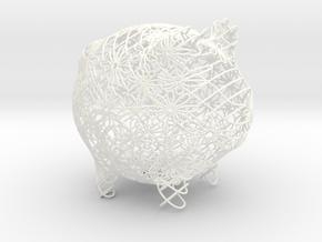 Flowers Small in White Processed Versatile Plastic