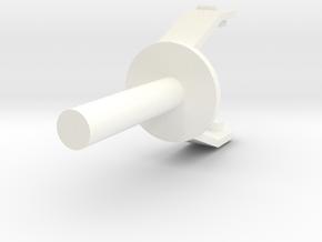 Mattel Battlestar Galactica Replacement Landram Ca in White Processed Versatile Plastic