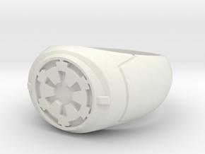 Imperial Signet Ring in White Natural Versatile Plastic