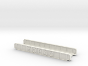 MOPAC STRAIGHT 110mm SINGLE TRACK VIADUCT in White Natural Versatile Plastic