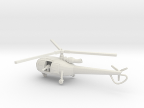 1:144 Alouette3 GUNSHIP in White Natural Versatile Plastic