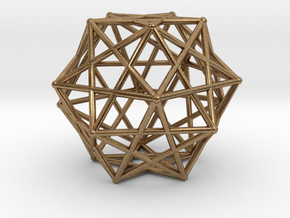 Star Cage 35mm Dodecahedral Sacred Geometry in Natural Brass