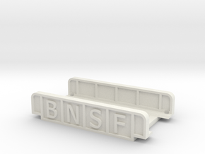 BNSF 55mm SINGLE TRACK in White Natural Versatile Plastic