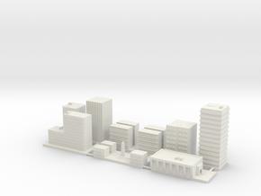 "1"" Buildings Set 1 - Commercial in White Natural Versatile Plastic"