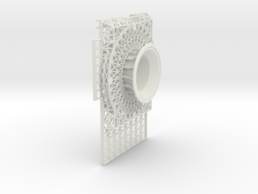 Center Bow Ventral Open in White Natural Versatile Plastic
