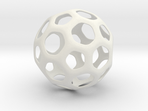 Hive Ball Large in White Natural Versatile Plastic