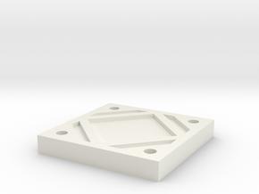 Belt Plaque 8 in White Natural Versatile Plastic