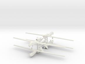 1/285 RQ-4 Global Hawk (x4) in White Natural Versatile Plastic