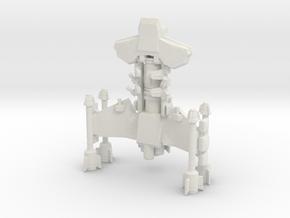 Battlecruiser 65mm long x 56mm wide x 29.5mm tall in White Natural Versatile Plastic