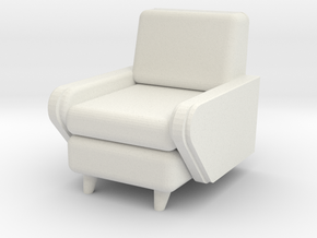 1:24 Moderne Club Chair in White Natural Versatile Plastic