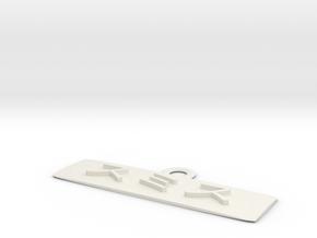 Name Katakana Smith in White Natural Versatile Plastic