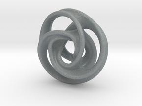 Tri Arm Torus small in Polished Metallic Plastic
