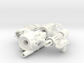 D.R.E.A.D Suppressor miniguns in White Strong & Flexible Polished