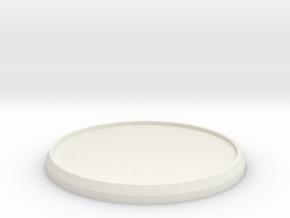 Round Model Base 40mm in White Natural Versatile Plastic