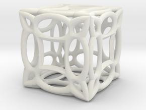Cubic fractal BV3 in White Natural Versatile Plastic