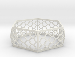 Hexagon Bracelet in White Natural Versatile Plastic