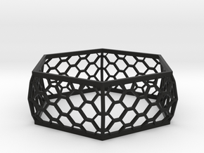 Hexagon Bracelet in Black Strong & Flexible