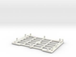 Rasberry Pi base in White Natural Versatile Plastic
