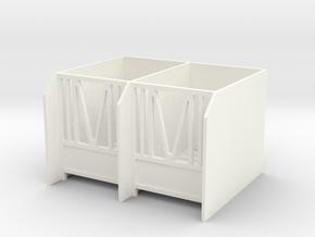 Calves Housing 1/32 Model in White Processed Versatile Plastic