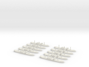 SS City of Flint (Hog Islander) 1/1800 x10 in White Natural Versatile Plastic