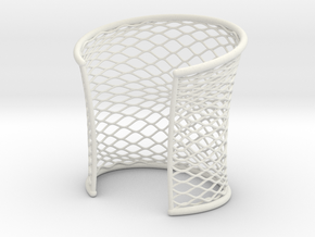 Woven Cuff - Medium in White Natural Versatile Plastic
