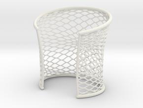 Woven Cuff - Medium in White Natural Versatile Plastic