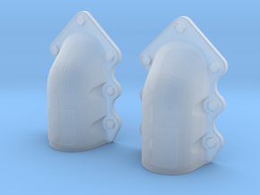 1:16 T-34 scallopped exhaust covers in Smooth Fine Detail Plastic
