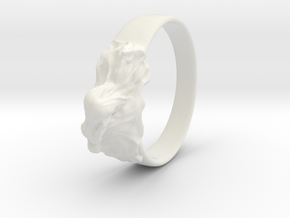 reclined girl ring in White Strong & Flexible