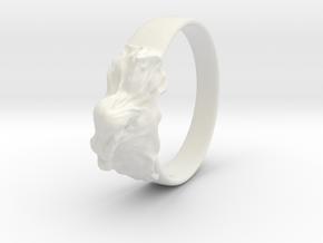 reclined girl ring in White Natural Versatile Plastic