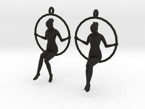 "earrings ""Hoop girl 2"" in Black Strong & Flexible"