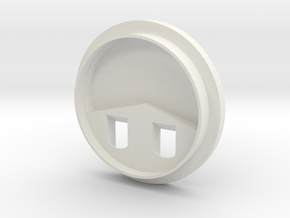 Turret Base in White Natural Versatile Plastic