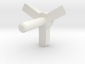 MBPI-A753-TRI2 in White Natural Versatile Plastic