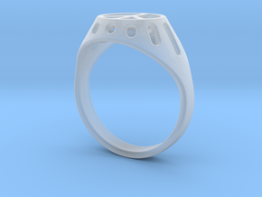 Joviart Peace Ring 02 - D17,5mm in Smooth Fine Detail Plastic