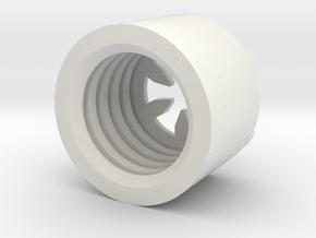 MBPI-B751-HEX in White Natural Versatile Plastic